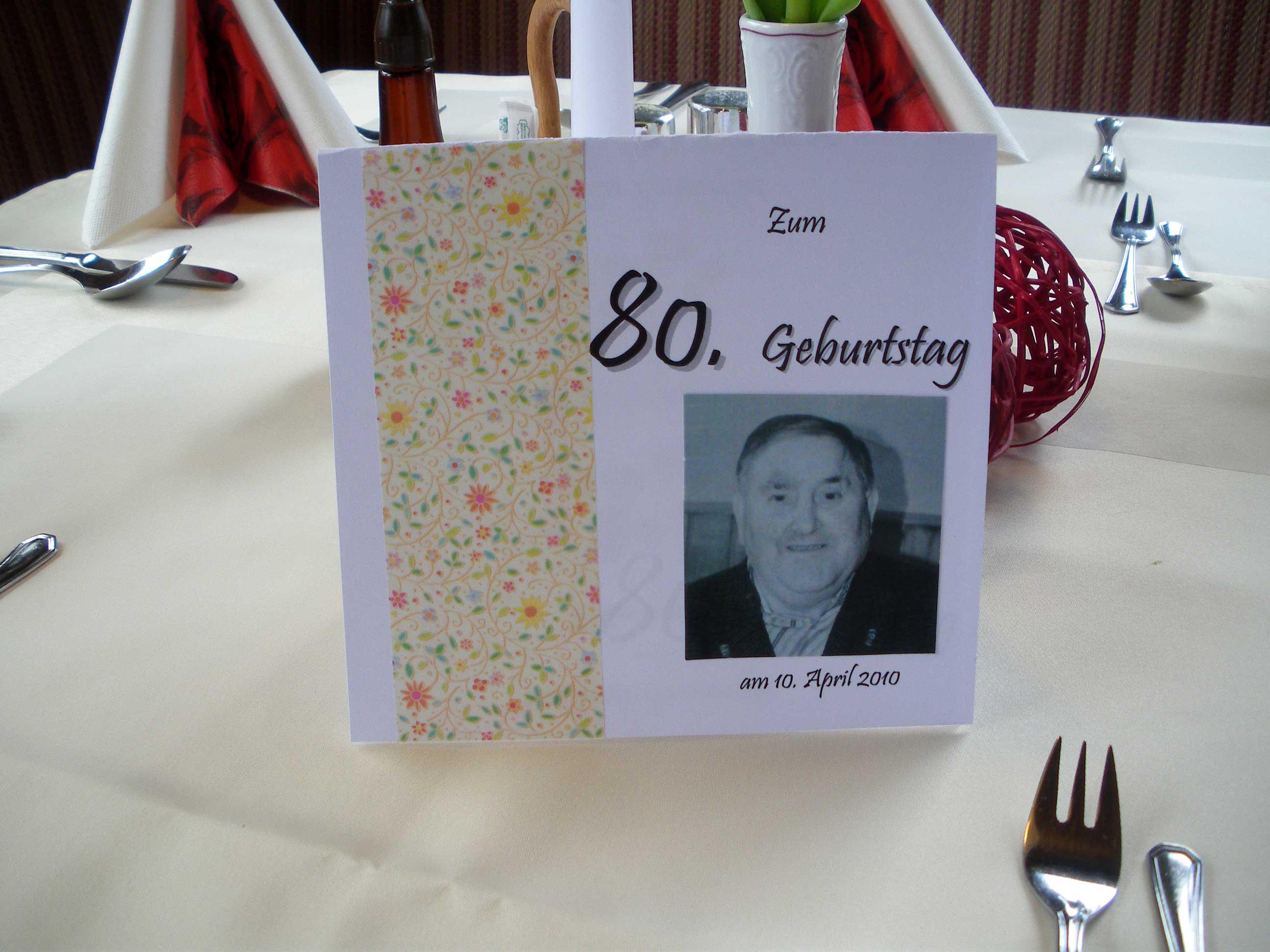 Tischdekoration 80 Geburtstag Alles Gute Zum 80 Geburtstag