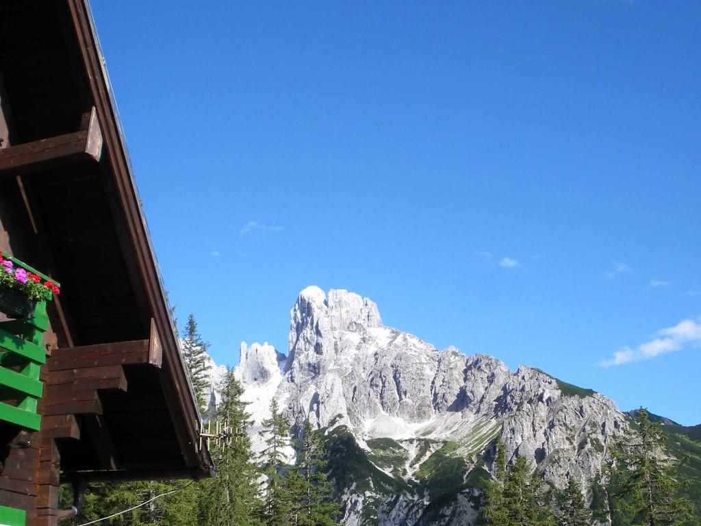 Aussicht von der Terrasse der Theodor-Körner-Hütte