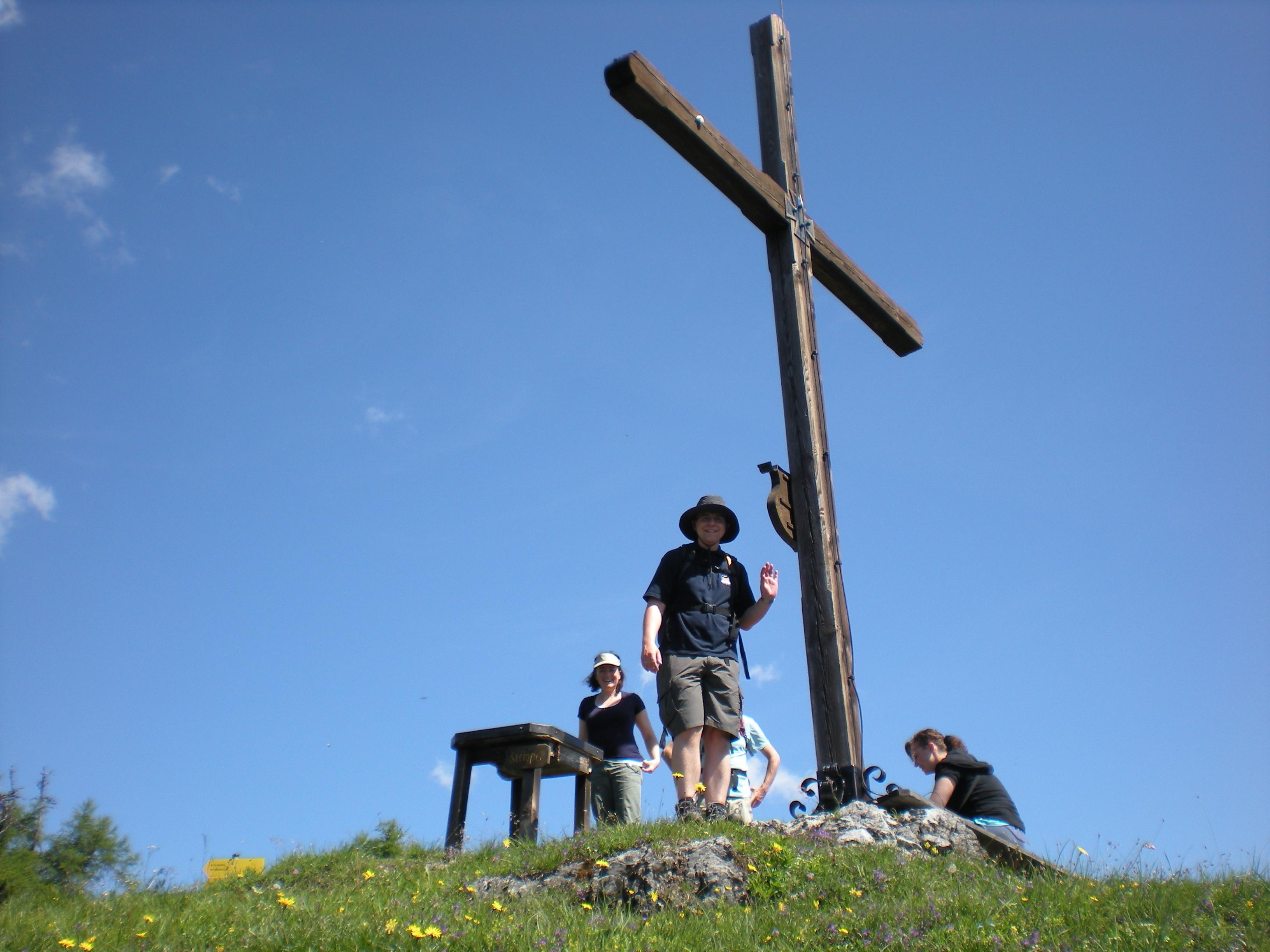 Das Gipfelkreuz am Ostermaisspitz ist fast erreicht!