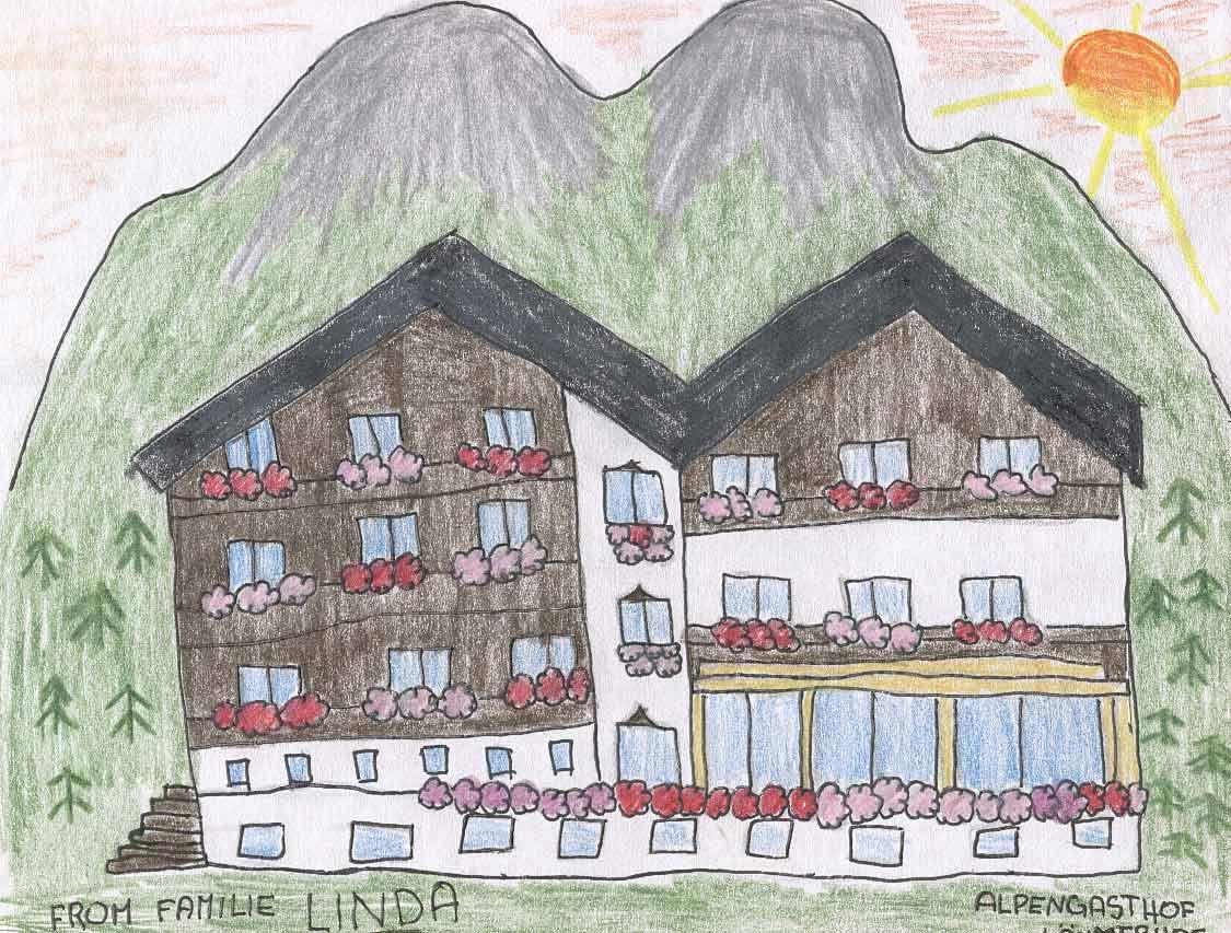 Lucie 11 Jahre hat unseren Gasthof wunderschön gezeichnet