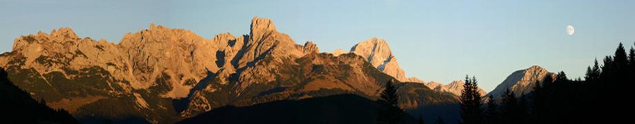 Gosaukamm in Abandstimmung vom Alpengasthof Lämmerhof