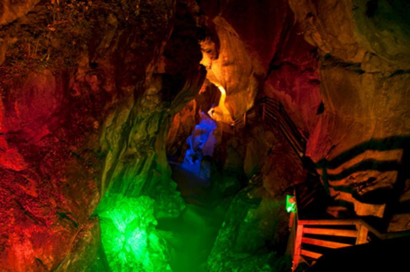 Ausflugsziel Lammerklamm bei Nacht