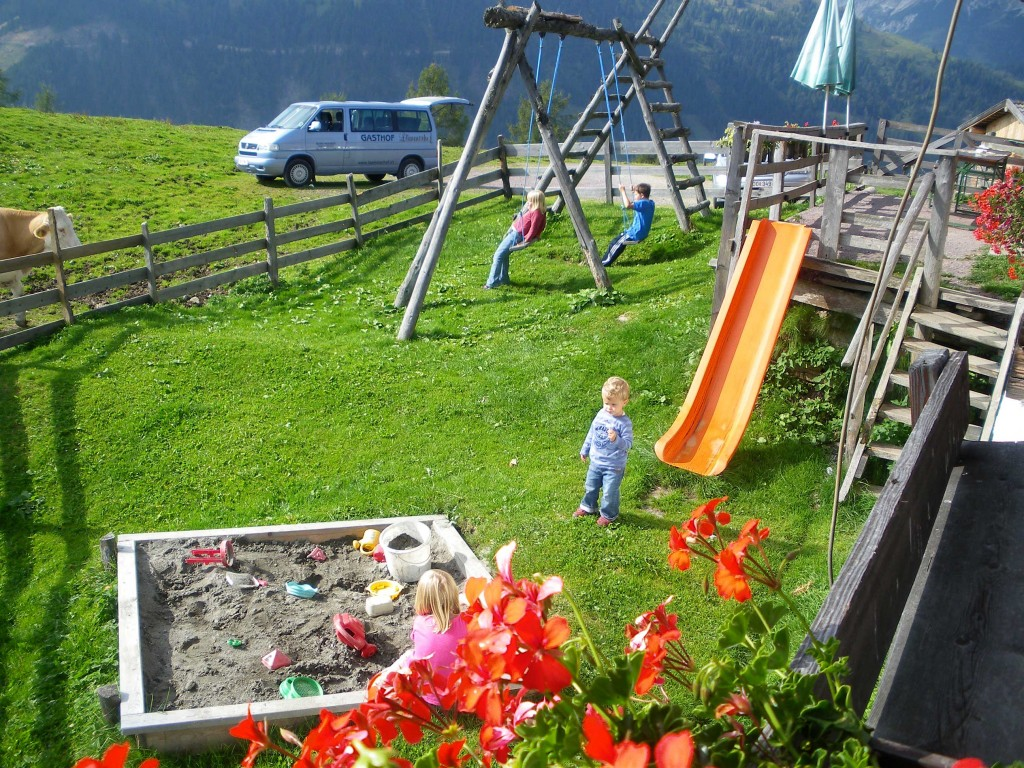 Spielplatz bei der Schwarzeneckalm