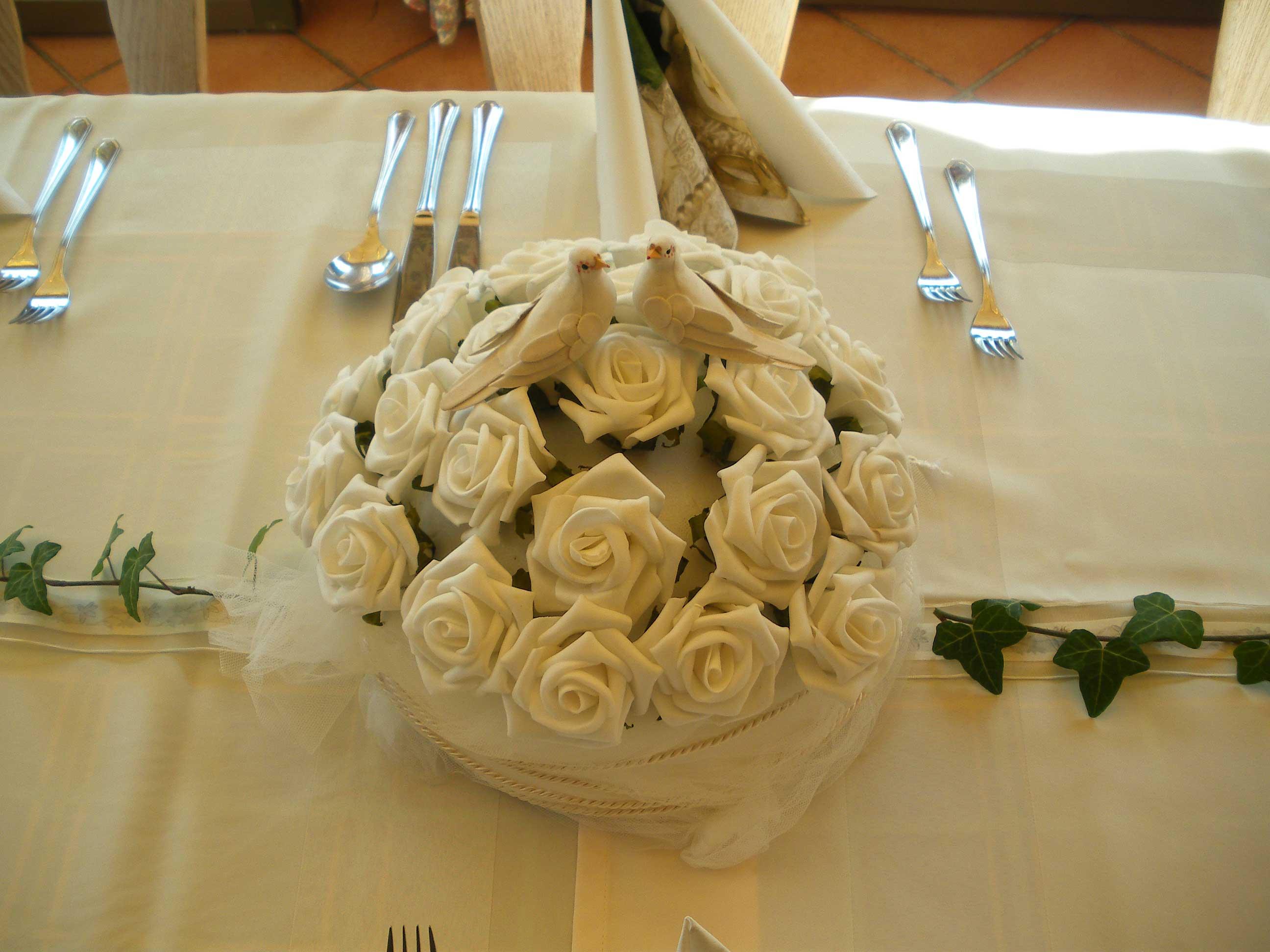 Tauben Tischdeko Hochzeit