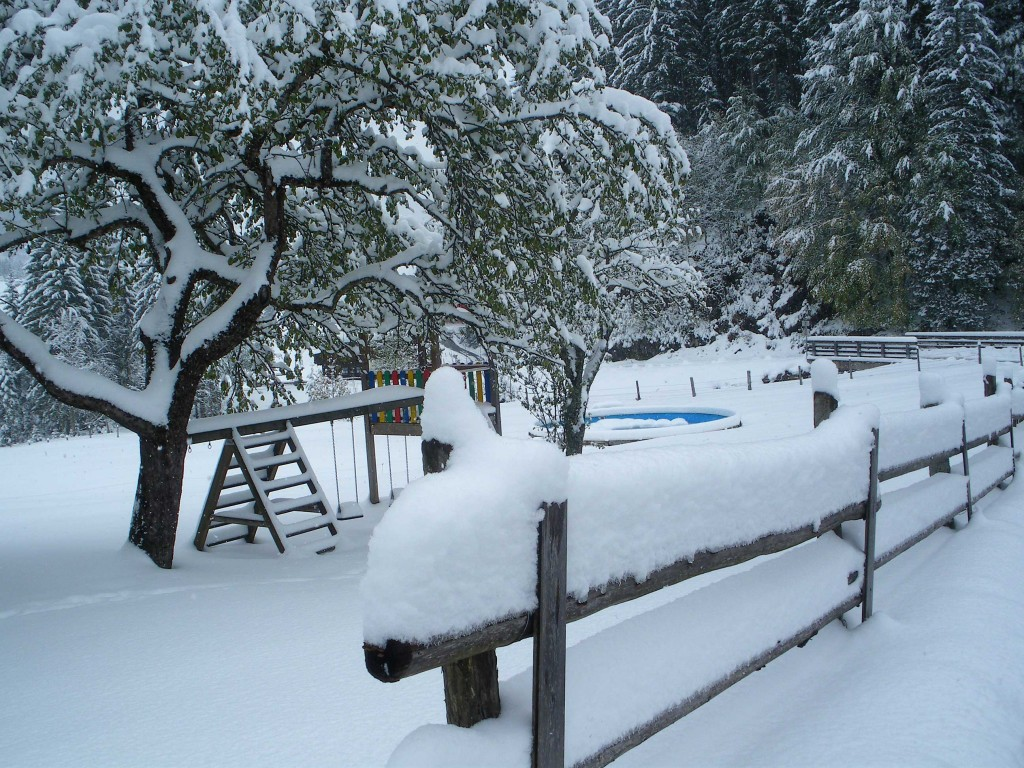Winterbeginn im Oktober
