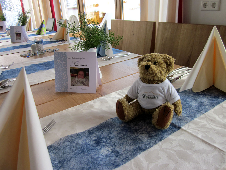 Tauffeier Souvenir - unser kleiner Lämmerhof-Teddy als Geschenk für den neuen Erdenbürger