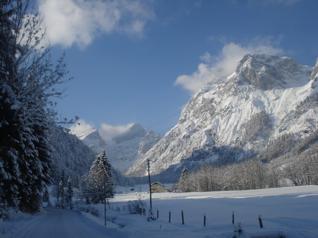 Winterlandschaft im schönen Lammertal