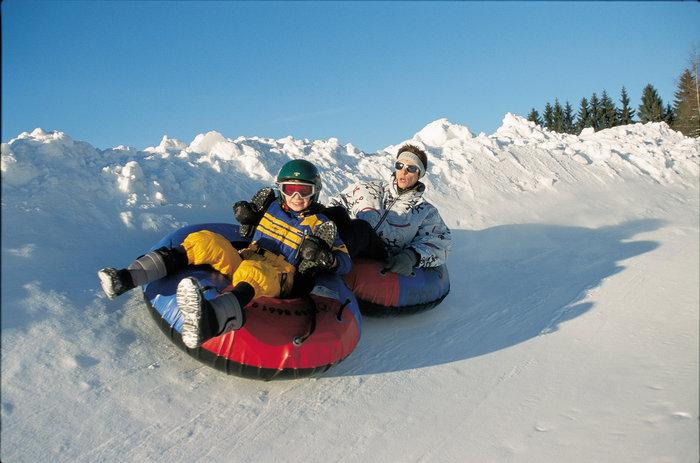 Snowtubing im Tennengebirge im Salzburger Land
