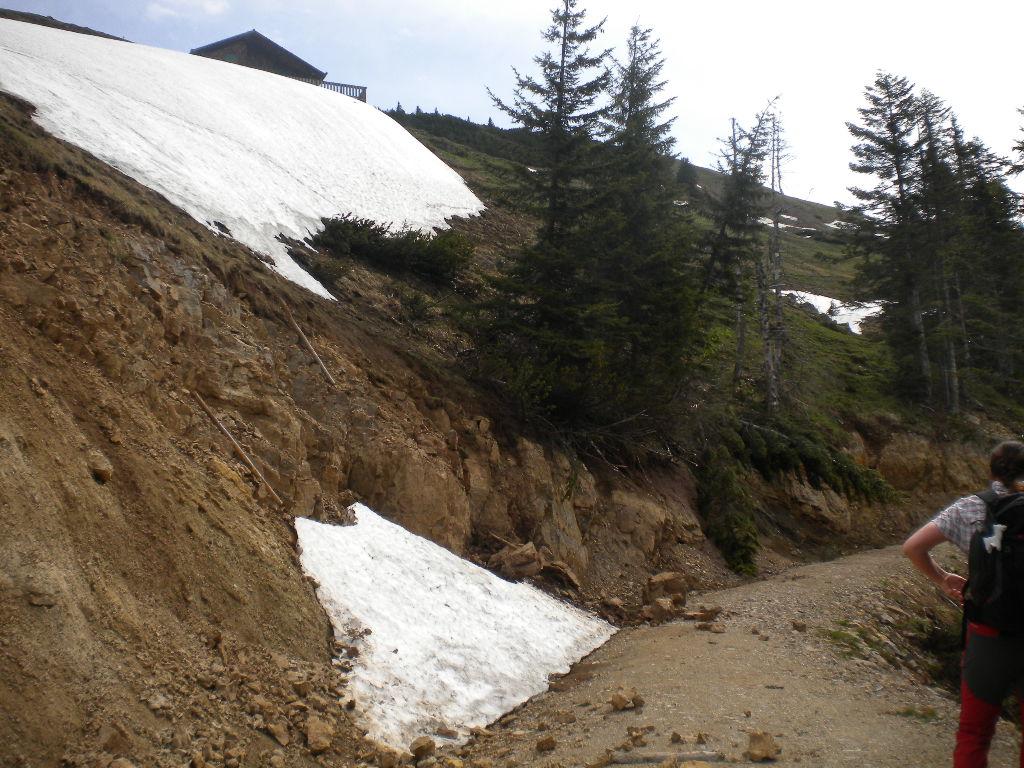Der letzte Rest des Schnees vom Winter