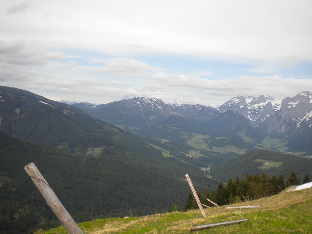 Ausblick über die Berge Salzburgs