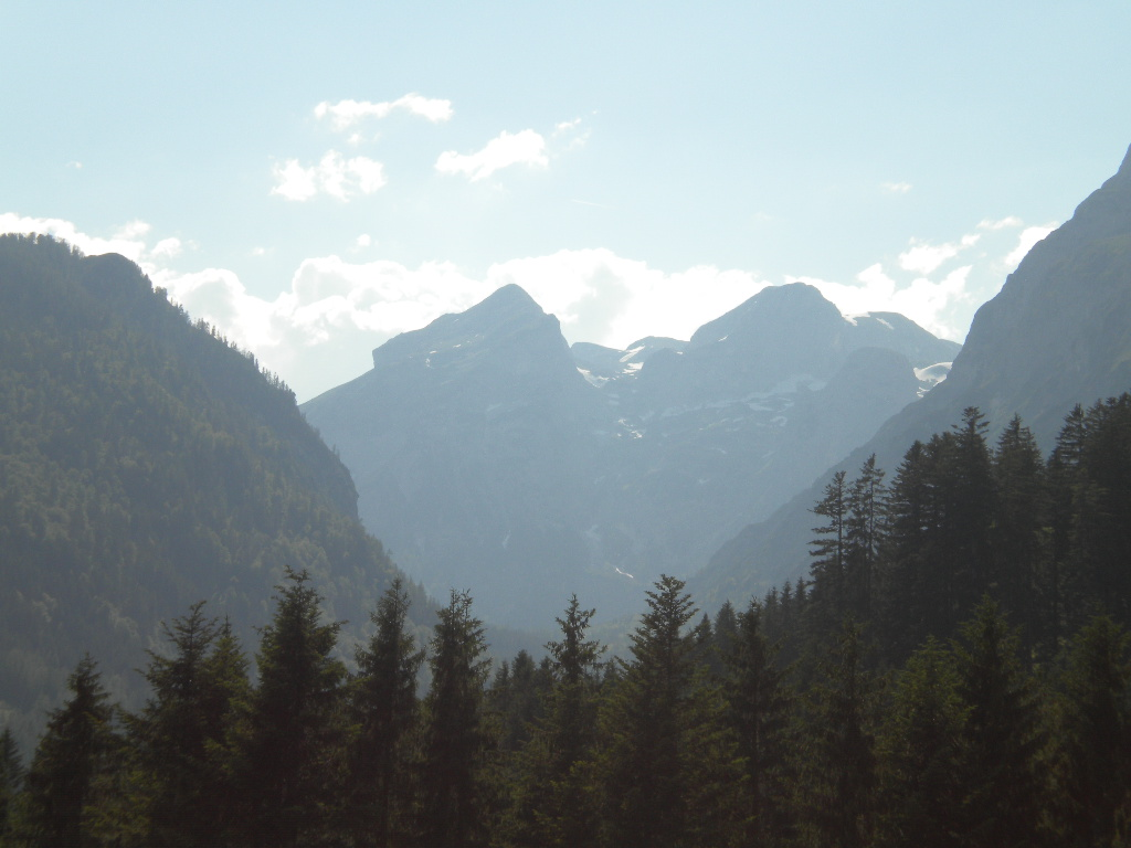 Berge in Salzburg im Sommer