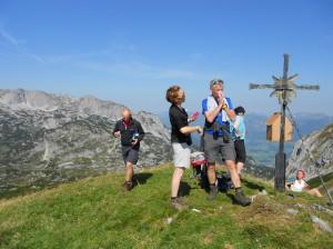 Hochgebirgswanderungim Zuge der Wanderwochen im Herbst vom Alpengasthof Lämmerhof auf den Edelweisskogel und den Hochkarfelderkopf
