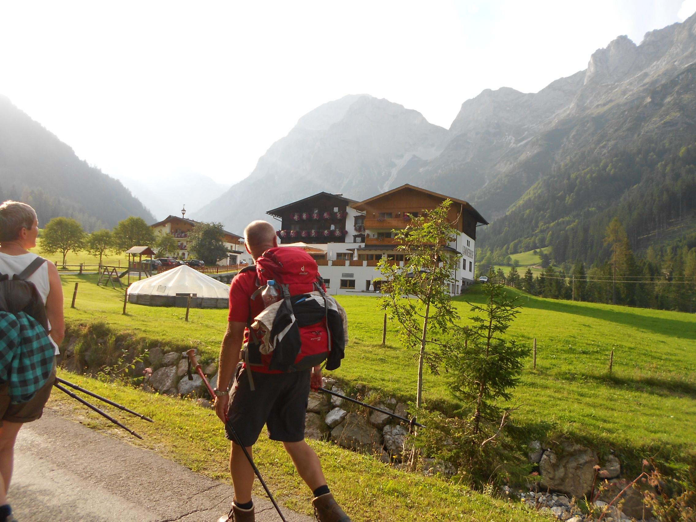 Wandern im Bauernherbst im Lammertal - Alpengasthof Lämmerhof
