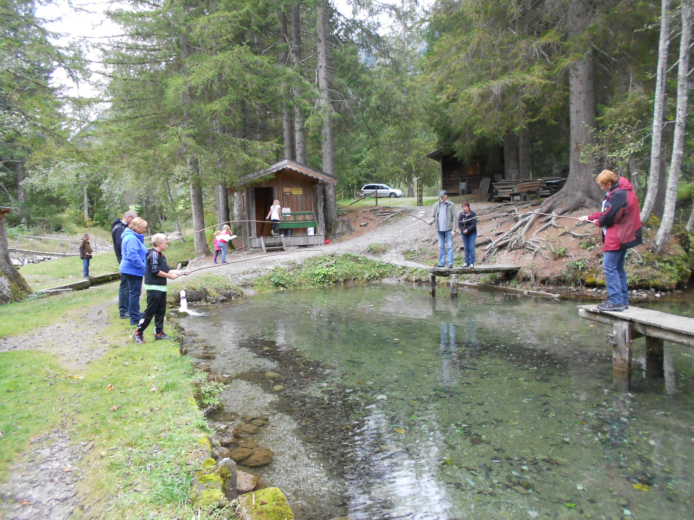 Der Fischteich des Hotel Lämmerhof