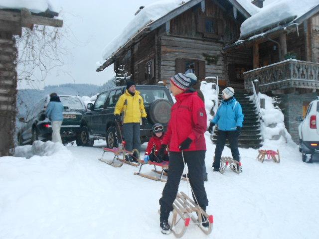 Rodelspaß im Winterurlaub im Salzburger Land