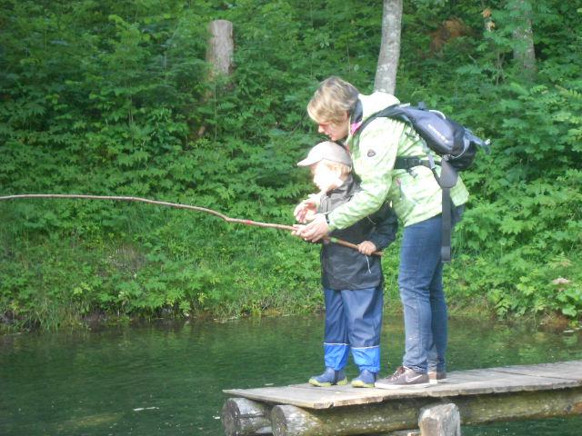 Besonders für die Kleinen ist das Fischen immer ein Erlebnis!
