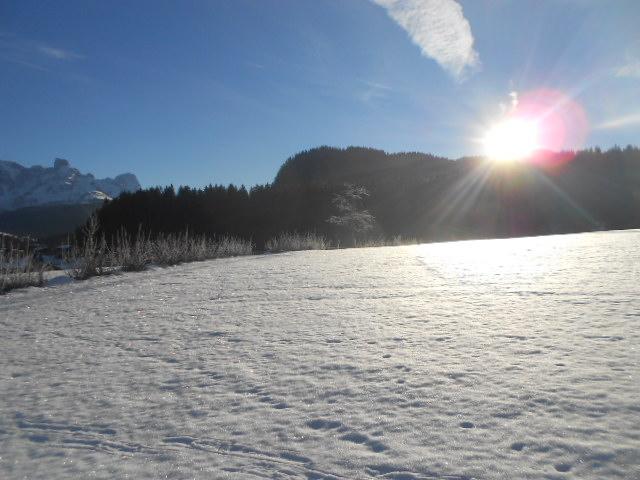 Winterlandschaft bei Sonnenschein im Lammertal