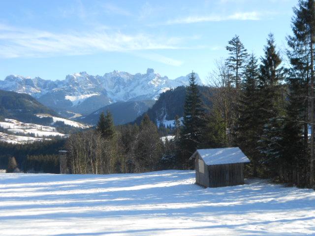 Winterlandschaft im Lammertal im Salzburger Land