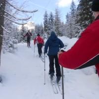 Skitour zum Truppenübungsplatz in der Aualm