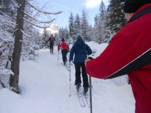 Schnupper-Skitour zum Truppenübungsplatz in der Aualm