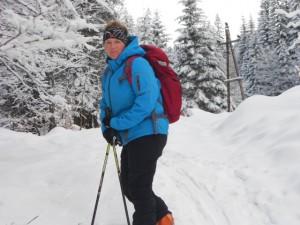 Skitourengeherin im Lammertal