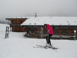 Die Aualmhütte - Ziel der Skitour im Lammertal