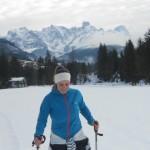Skitourgeherin im Lammertal