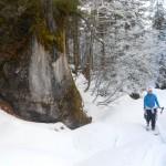 Fels entlang des Weges