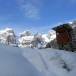Winterlandschaft mit Tennengebirge