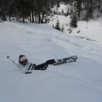 Skitourgeherin im Schnee