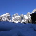 Das Ziel mit dem Tennengebirge vor Augen