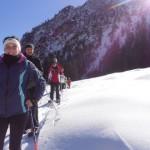 Schneeschuhwanderer unterwegs im Lammertal