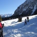 Herrliche Aussicht auf der Winterwanderung