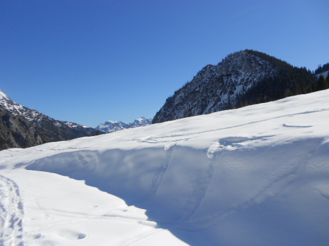 Schnee gibt's noch mehr als genug!