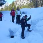 Beim Schneeschuhwandern im Lammertal