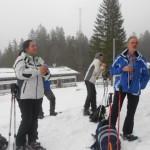 Am Ziel der Schneeschuhwanderung im Lammertal