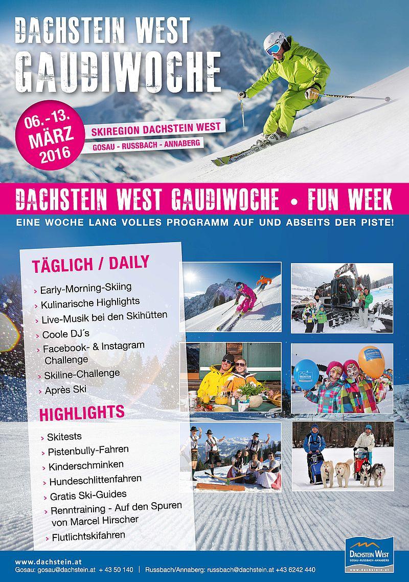 Gaudi Woche in der Skiregion Dachstein West