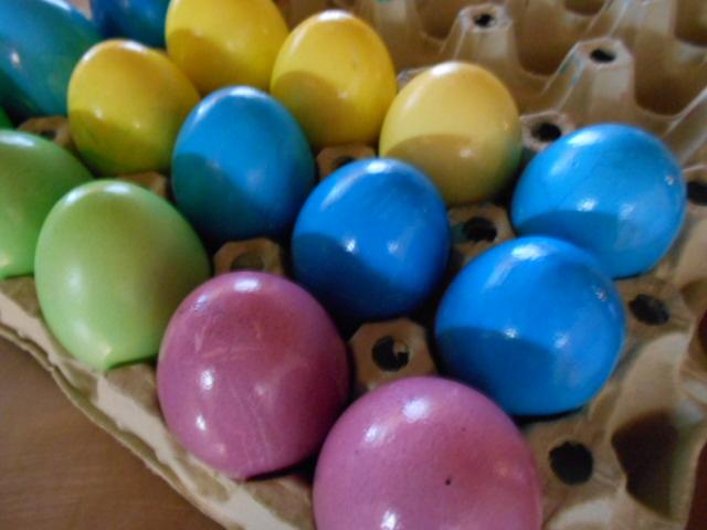 selbst gefärbte Eier