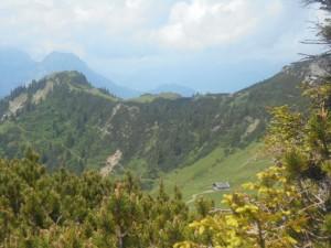 Mahdriedl - Blick von der Hofpürglhütte Richtung Mahdalm Trekking Tage