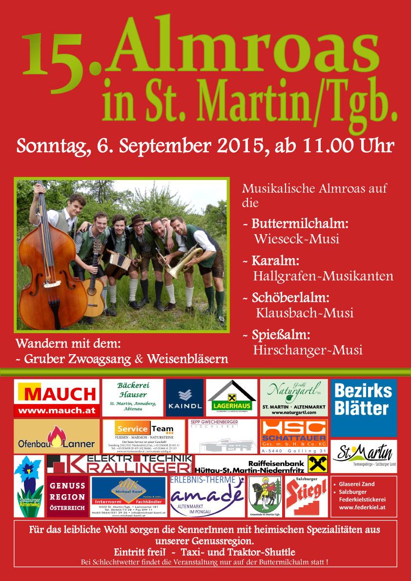Programm & Hütten bei der St. Martiner Almroas in den Veranstaltungen im Bauernherbst