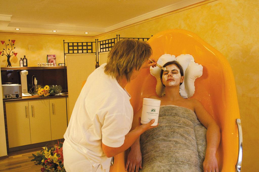 Pflegemaske im Wellnesshotel Lämmerhof