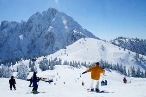Herrliches Skiwetter im Salzburger Land