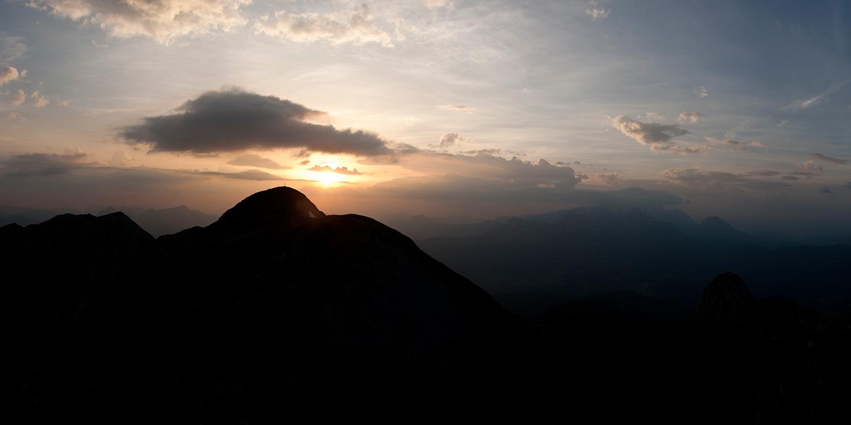 Hochkarfelderkopf bei Sonnenaufgang