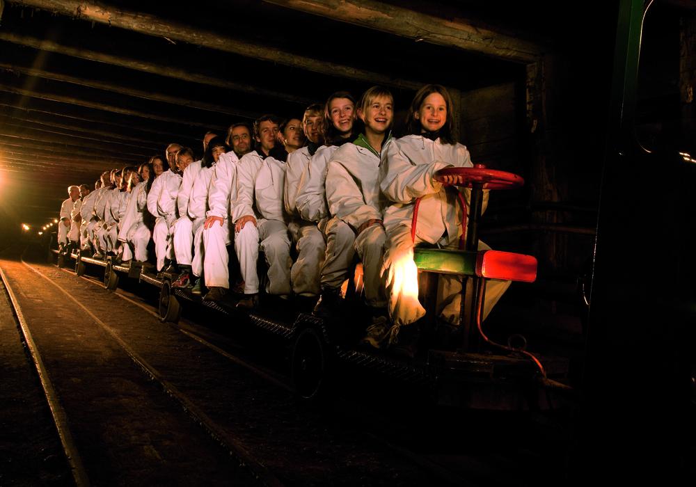 Grubenbahn der Salzwelten Hallein