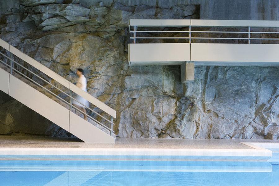 Tradition und Moderne in der Felsentherme (c) Felsentherme Gastein