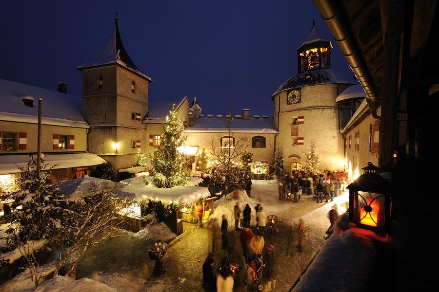 Advent auf der Burg Hohenwerfen in Salzburg