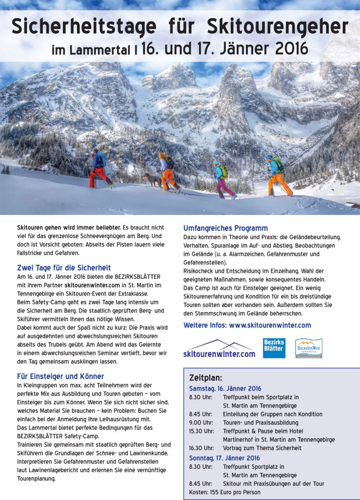 Skitouren Safety-Camp im Salzburger Land