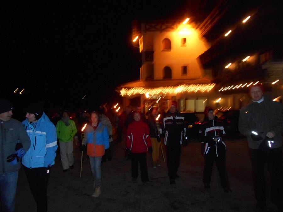 Silvester-Fackelwanderung im Salzburger Land
