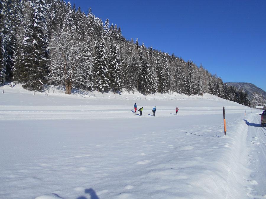Schneeschuhwandern langlaufen stmartin 3 laemmerhof 39 s blog for Fischteich im winter