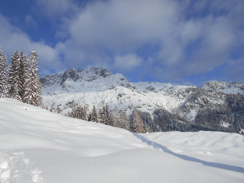 Verschneites Tennengebirge
